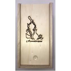 Aromaterápia gravírozott illattartó doboz