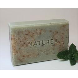 Kézműves citromfű szappan zöld anyaggal