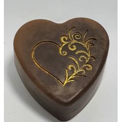 Kézműves csokis szív-szappan