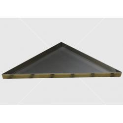 Háromszög alakú víztálca rozsdamentes acél
