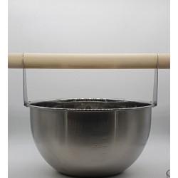 4 literes fém szaunadézsa fa fogóval