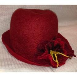 Bordó női kalap